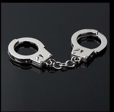 Fashion Men's New Gift Key Chains Keychain Keyfob Keyring Police Handcuffs Mini