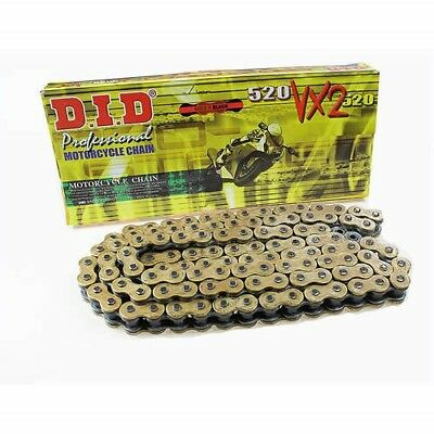 DID 520 VX2 Gold/Black Pro-Street X-ring Motorcycle Chain