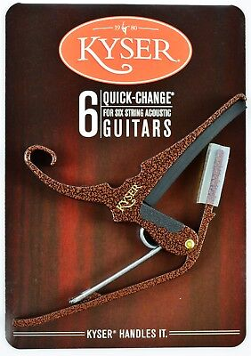 Kyser Quick Change Copper Vein Capo For Acoustic Guitars - Made In Usa