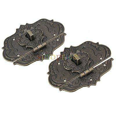 "2.36x3.15"" Old Style Fire Totem Metal Lock Buckle for Jewelry Box Pack of 2"