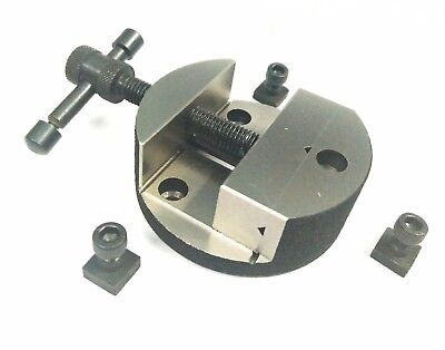 80 mm Round vice for rotary tables with fixing tee nuts-milling engineering tool