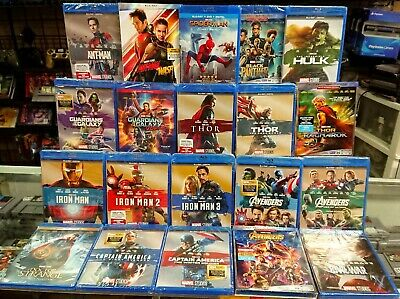 Marvel Complete BluRay & Digital Collection,ALL 22 FILMS RELEASED. Phase 1, 2, 3