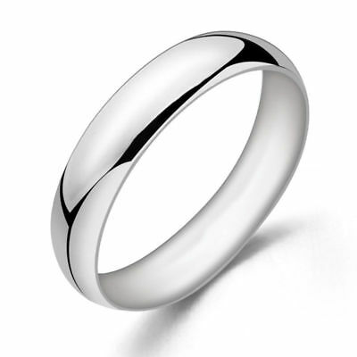 Fashion tiny 14k White Gold Filled Silver Smooth Band Plain Simple wedding rings