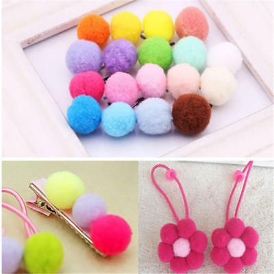 100pcs Soft Round Shaped Pompom Balls Fluffy PomPom For Kids DIY Handcraft