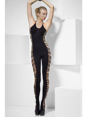 Fever - Catsuits - Catsuit With Open Sides - Noir - Zwart