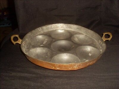 Antique  Copper Poaching Pan