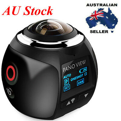 AU 4K 360 Mini Panoramic Camera HD 1080P VR WiFi Waterproof Sports Action Video