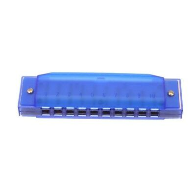 Diatonic Harmonica 10 Holes Blues Harp Mouth Organ Key of C Reed Instrument G5V3