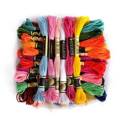 36 skeins of thread Multicolored For Embroidery Cross needle Knitting Brace New