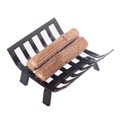 1/12 Dollhouse Furniture Metal Rack with Firewood for Living Room Fireplace C6P1