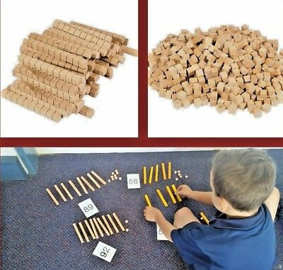 MAB Blocks: 20 Tens and 20 Ones Place Value Resource Teaching and Learning