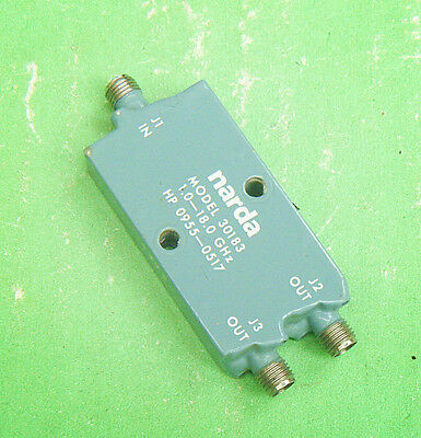 1pc Used Good narda 30183 HP 0955-0517 1-18GHz SMA POWER DIVIDER