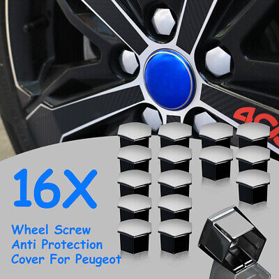 16x Car Wheel Nut Bolt Cover Cap Screw For Peugeot 207 307 308 407 408 508 2008