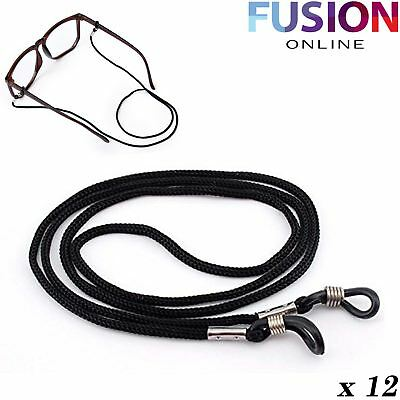 12X Black Heavy Duty Neck Cord Lanyard Glasses Strap Spectacle Holder Spectacles