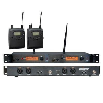 UHF Wireless In ear Monitor System Dual Channels for Stage Performance