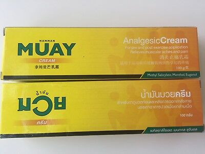 New! 2x 100g Namman Muay/Thai Boxing Cream Muscular Pain Relief