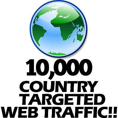 10,000 Keyword Targeted Country Based Visitors - Boost Your Website SEO GEO