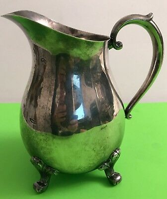 "VTG CHESHIRE Silverplate Water 7.25"" Pitcher #225"
