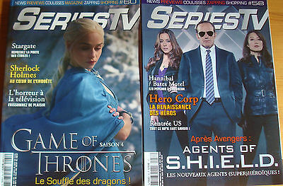 Lot De 2 Magazines Séries Tv  - Game Of Thrones / Agents Of Shield -N° 58 / 60