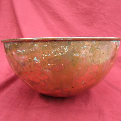 copper 9 inch mixing bowl vintage made in France antique