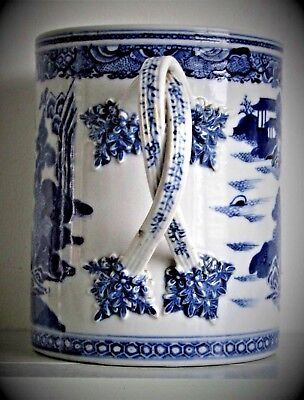 Antique Chinese Blue & White Qianlong Porcelain Cup Beer Very Large Qing Dynasty