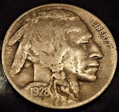 1928-D Buffalo Nickel Full Date Vf