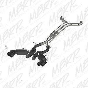MBRP Exhaust S7032BLK Black Series Cat Back System Exhaust System Kit