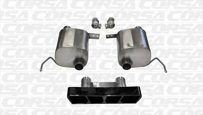 Corsa Performance 14765BLK Sport Axle Back System Exhaust System Kit