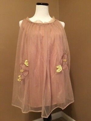 Vintage 1960's nylon chiffon babydoll set with panties