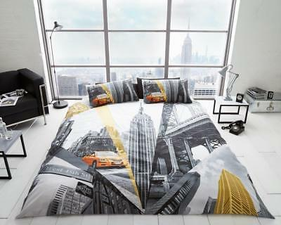 Fifth Avenue New York Theme Luxurious Duvet Covers Sets Reversible Bedding Sets