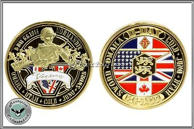 D-Day Landings Commemorative Gold Plated Coin WW2 Collectable #1