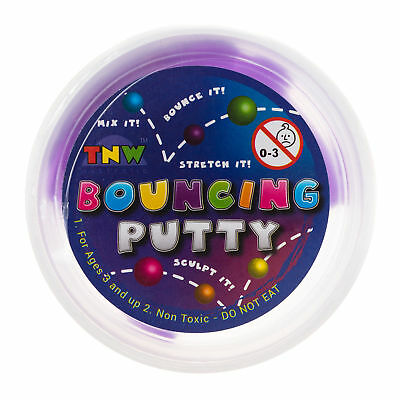 Mooloola Bouncing Putty in Blue, Green, Orange, Pink, Purple, Yellow