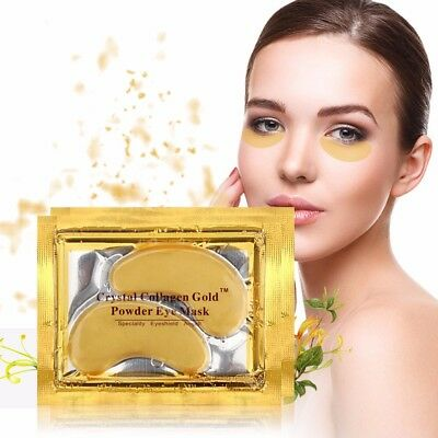 5 Pair 24K Gold Crystal Collagen Anti Aging / Wrinkle Under Eye Gel Pad Mask