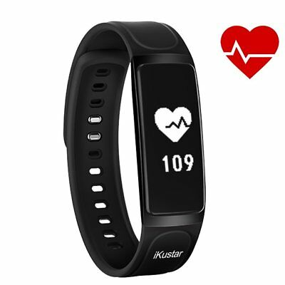 Fitness Tracker iKustar Smart Bracelet Pedometer Heart Rate Monitor Sleep Sport