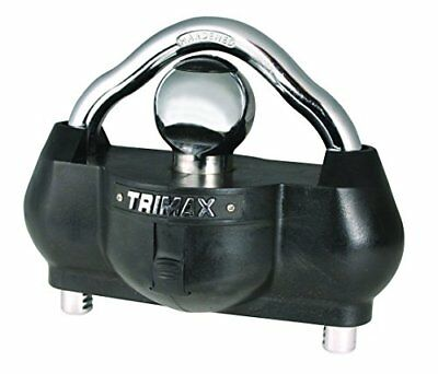 Trimax Premium Universal Solid Hardened Steel Trailer Lock Fits Most Couplers