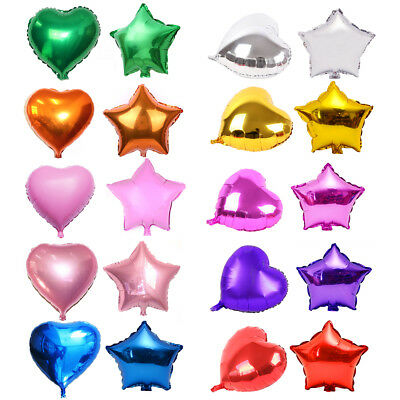 12/18/32'' Heart/Star Foil Helium Balloons for Birthday Wedding Party Decor NEW