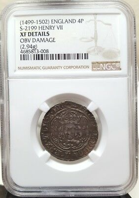 1499-1502 England/Great Britain 4 Pence Groat   NGC XF Details   Henry VII