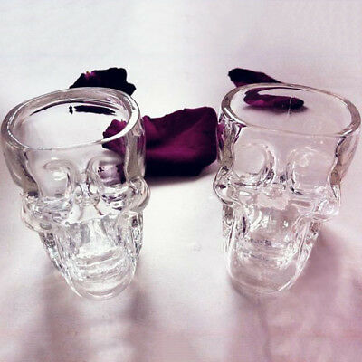 3D Skull Head Shot Glass Crystal Cup Mug Vodka Whisky Bar Party Drink Gift 75ml