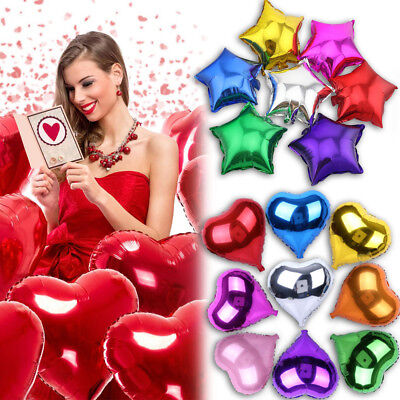 12/18/32 inch  Heart Star Foil Balloons Helium Wedding Birthday Party Decor USA