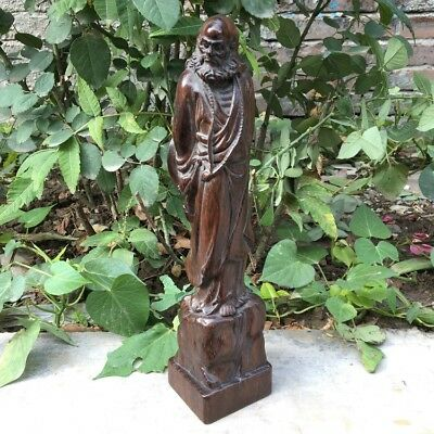 The old Chinese collection lobular Rosewood carving ornaments~damo