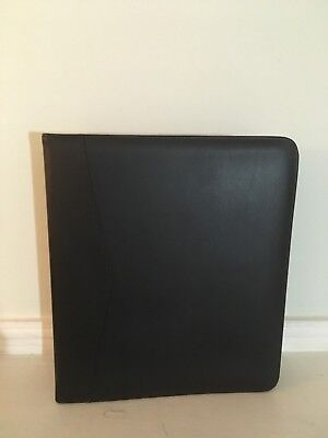 "Royce Leather 2"" D Ring Binder Black"