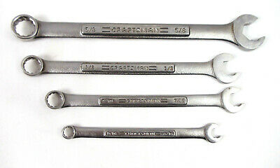 """Craftsman SAE 12pt Combination Speed Wrenches 5/16"""", 7/16"""", 1/2"""". 5/8""""  -VɅ-"""