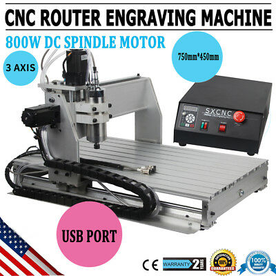 【USA】3 Axis 6040 USB 1.5KW VFD CNC Router Engraving Milling Drilling Machine