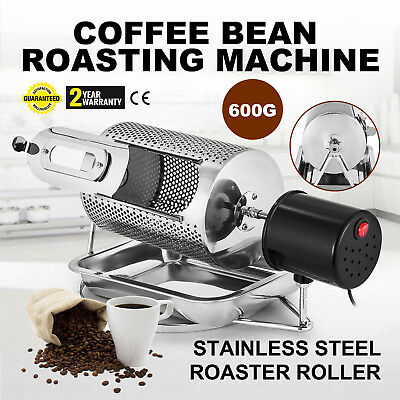Coffee Bean Roasting Machine Electric Baking Beans Nuts + Tray Stainless Steel