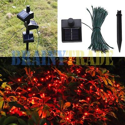 100 LED Connectable Solar Powered Fairy String Light Outdoor Wedding Party Lamp