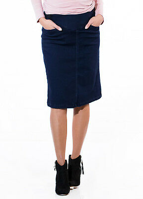 NEW - QueenBee® - Maternity Denim Skirt in Dark Navy