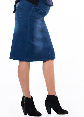 NEW - QueenBee® - Maternity Denim Skirt in Blue Wash