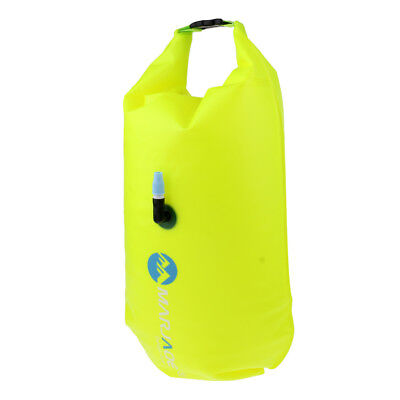 Open Water Swim Buoy Flotation Device Safety Swimming Tow Float Dry Bag Sack