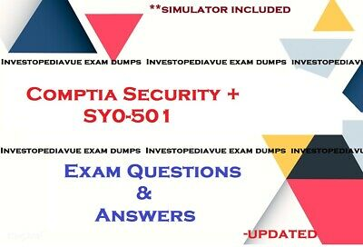 CompTIA Security + SY0-501 Real Exam Q&A and simulator