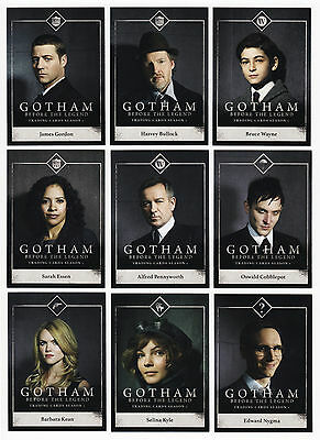 2016 Gotham Series 1 - 100 Card Mini-Master Set - 72 Base + 3 Chase Sets BATMAN